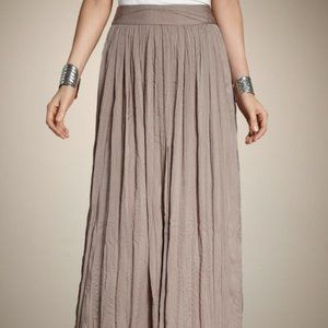 Chico's Meleah Champagne Crinkle Maxi Skirt, L 14